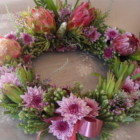 Protea Rustic Wreath