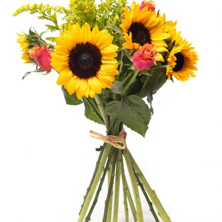 Sunflower and Rose Bunch