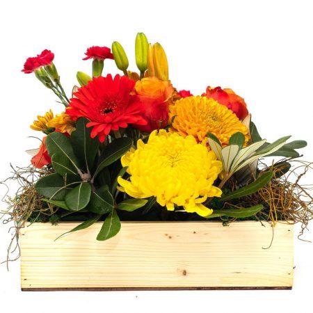 Lily Gerbera and Rose Box Arrangement