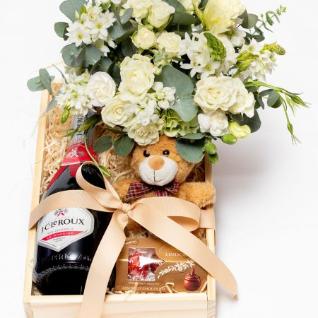 Champagne, Flower and Teddy Hamper