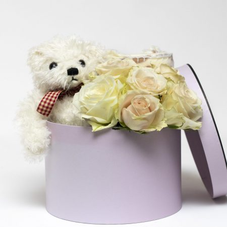 Teddy and Rose Hat Box