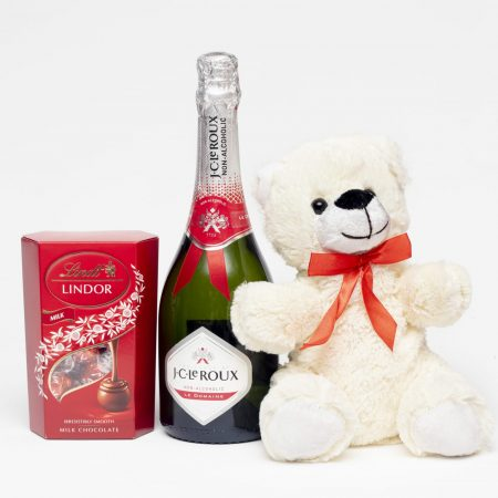 Champagne, Teddy and Lindor Gift Set