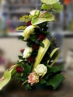 Anthurium and Rose Standing Display