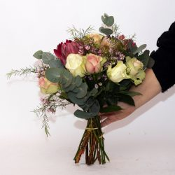 Protea and Rose Bunch